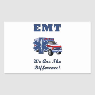 EMT We Are The Difference Rectangular Sticker