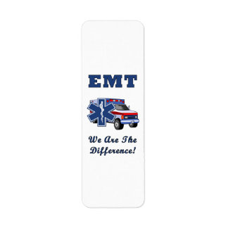EMT We Are The Difference Return Address Label