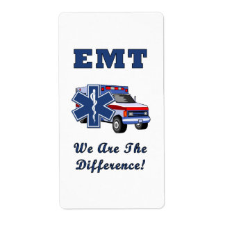 EMT We Are The Difference Shipping Label