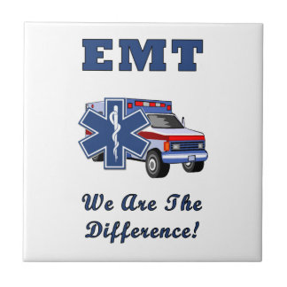 EMT We Are The Difference Small Square Tile