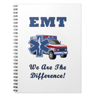 EMT We Are The Difference Spiral Notebook