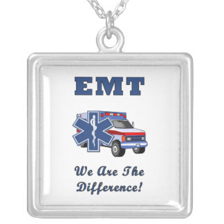 EMT We Are The Difference Square Pendant Necklace