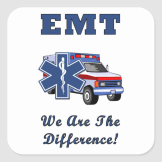 EMT We Are The Difference Square Sticker
