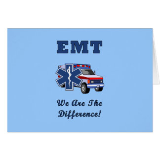 EMT We Are The Difference Stationery Note Card