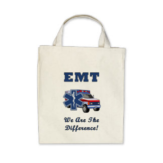 EMT We Are The Difference Tote Bags