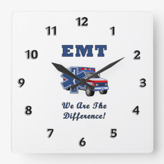 EMT's Are The Difference Square Wall Clock
