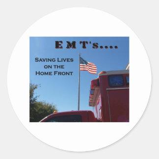 EMT's Saving Lives Classic Round Sticker