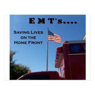 EMT's Saving Lives Postcard