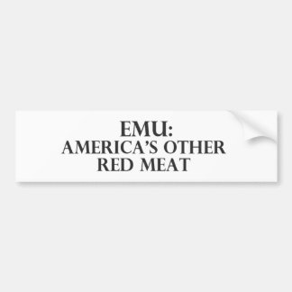EMU Americas Other Red Meat Bumper Sticker