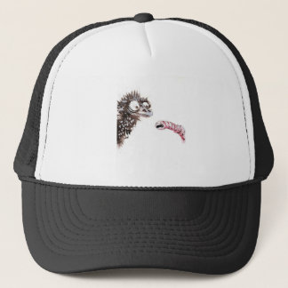 Emu and Worm Trucker Hat