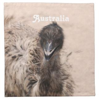 Emu australiano servilleta imprimida