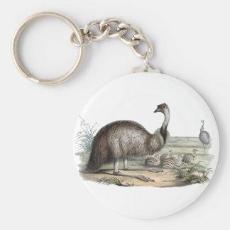 Emu Basic Round Button Keychain