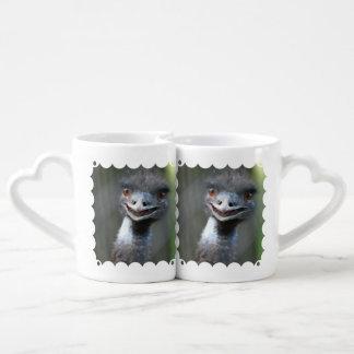 Emu Bird Couples' Coffee Mug Set