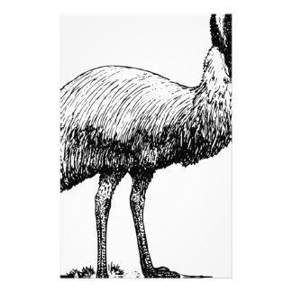 Emu Bird Stationery