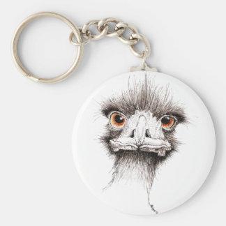 Emu by Inkspot Basic Round Button Keychain