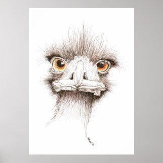 Emu by Inkspot Poster