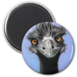 EMU: COLOR PENCIL ART: REALISM MAGNET