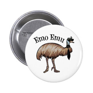 Emu de Emo Pin Redondo De 2 Pulgadas