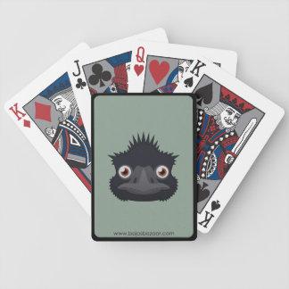 Emu de papel barajas de cartas