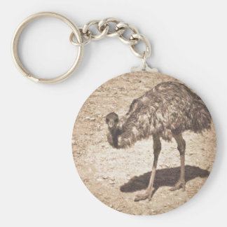 Emu Drawing Basic Round Button Keychain