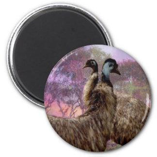 Emu Dreaming 2 Inch Round Magnet
