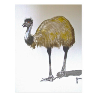 Emu en postal del Watercolour