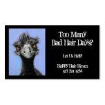 Emu Frazzled: Negocio del pelo: Malos días del pel Tarjetas De Visita