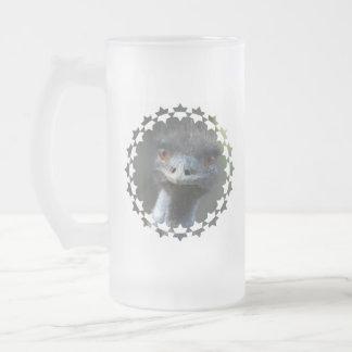 Emu  Frosted Beer Mug