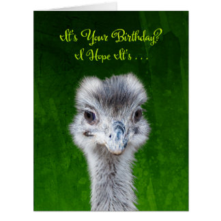 Emu - Have an Emusing Birthday Card