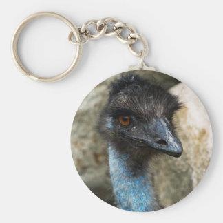 Emu Head Keychain