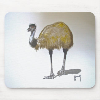 Emu in Watercolour Mouse Mat Mouse Pad