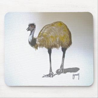 Emu in Watercolour Mouse Mat Mousepads