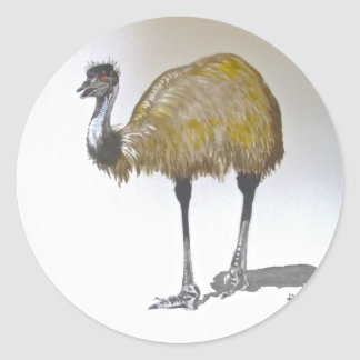 Emu in Watercolour Stickers