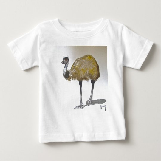 Emu in Watercolour Vest Baby T-Shirt
