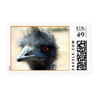 Emu, looking at you... stamp
