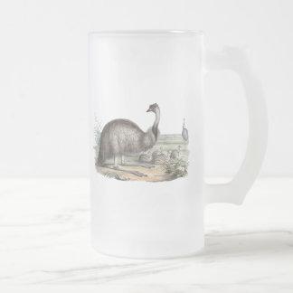 Emu 16 Oz Frosted Glass Beer Mug