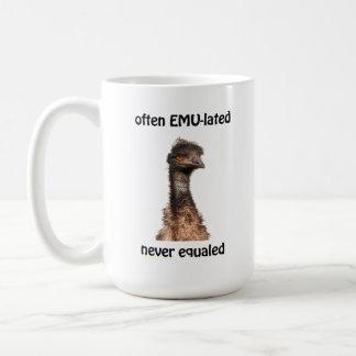 Emu Often EMU-lated Never Equaled mug
