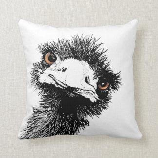 Emu – Pen and Ink Throw Pillow