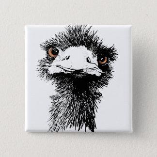 Emu Pinback Button