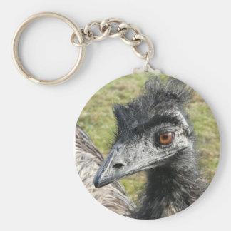 Emu Profile Portrait Basic Round Button Keychain