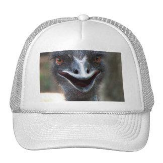¡Emu que dice el HI! Imagen grande de los ojos del Gorras De Camionero