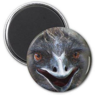 ¡Emu que dice el HI! Imagen grande de los ojos del Imán Redondo 5 Cm