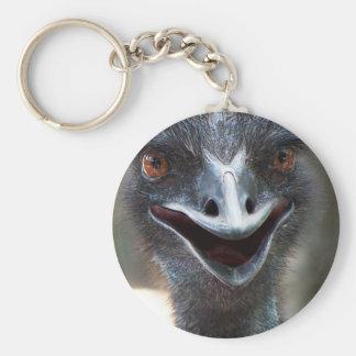 ¡Emu que dice el HI! Imagen grande de los ojos del Llaveros Personalizados