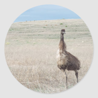 emu running classic round sticker