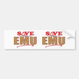 Emu Save Bumper Sticker