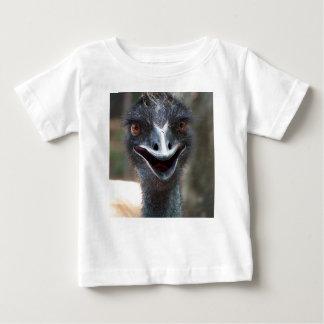 Emu saying HI! Open beak big brown eyes picture Baby T-Shirt