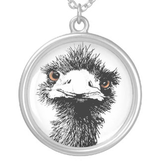Emu Silver Plated Necklace