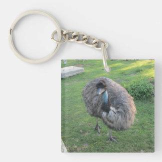 Emu Single-Sided Square Acrylic Keychain