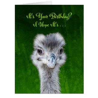 Emu - tenga un cumpleaños de Emusing Tarjeta De Felicitación Grande