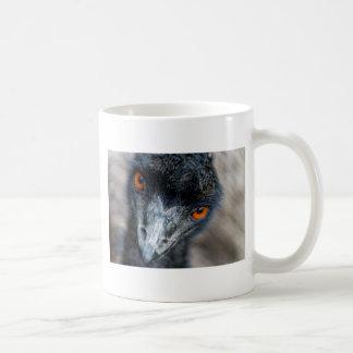 Emu watching classic white coffee mug